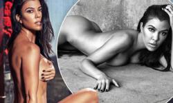 Kourtney Kardashian Shoots Pantless Nudes for 'GQ Mexico'